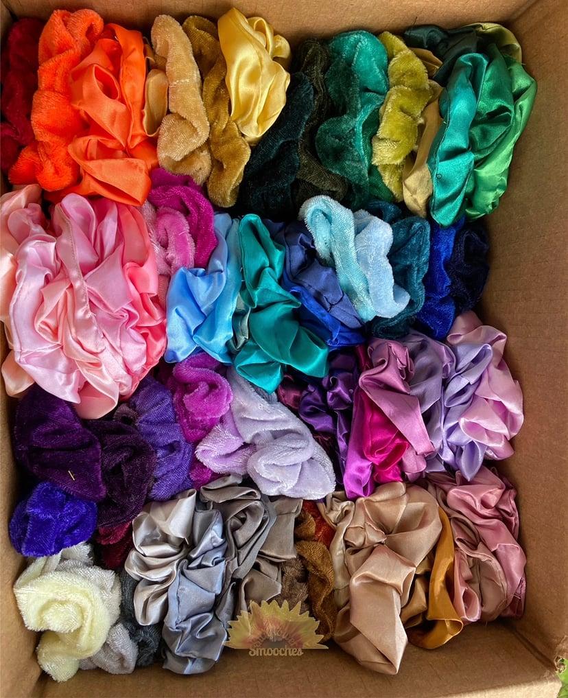 Image of Silk/Velvet Scrunchies