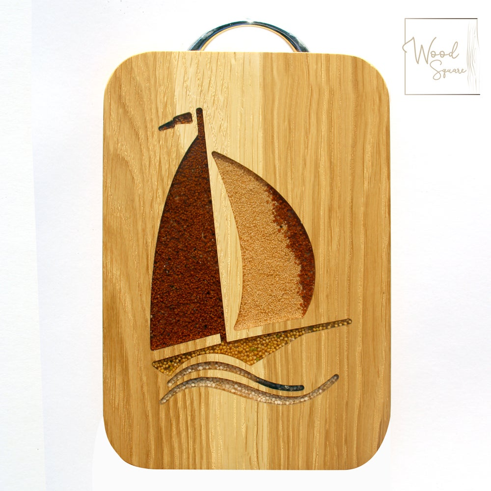 Image of Chopping board with boat