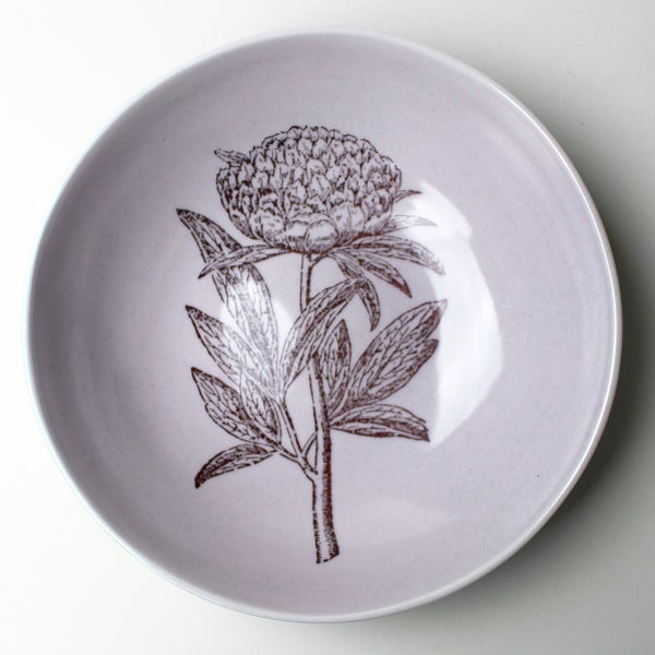Image of pasta bowl with peony, lilac