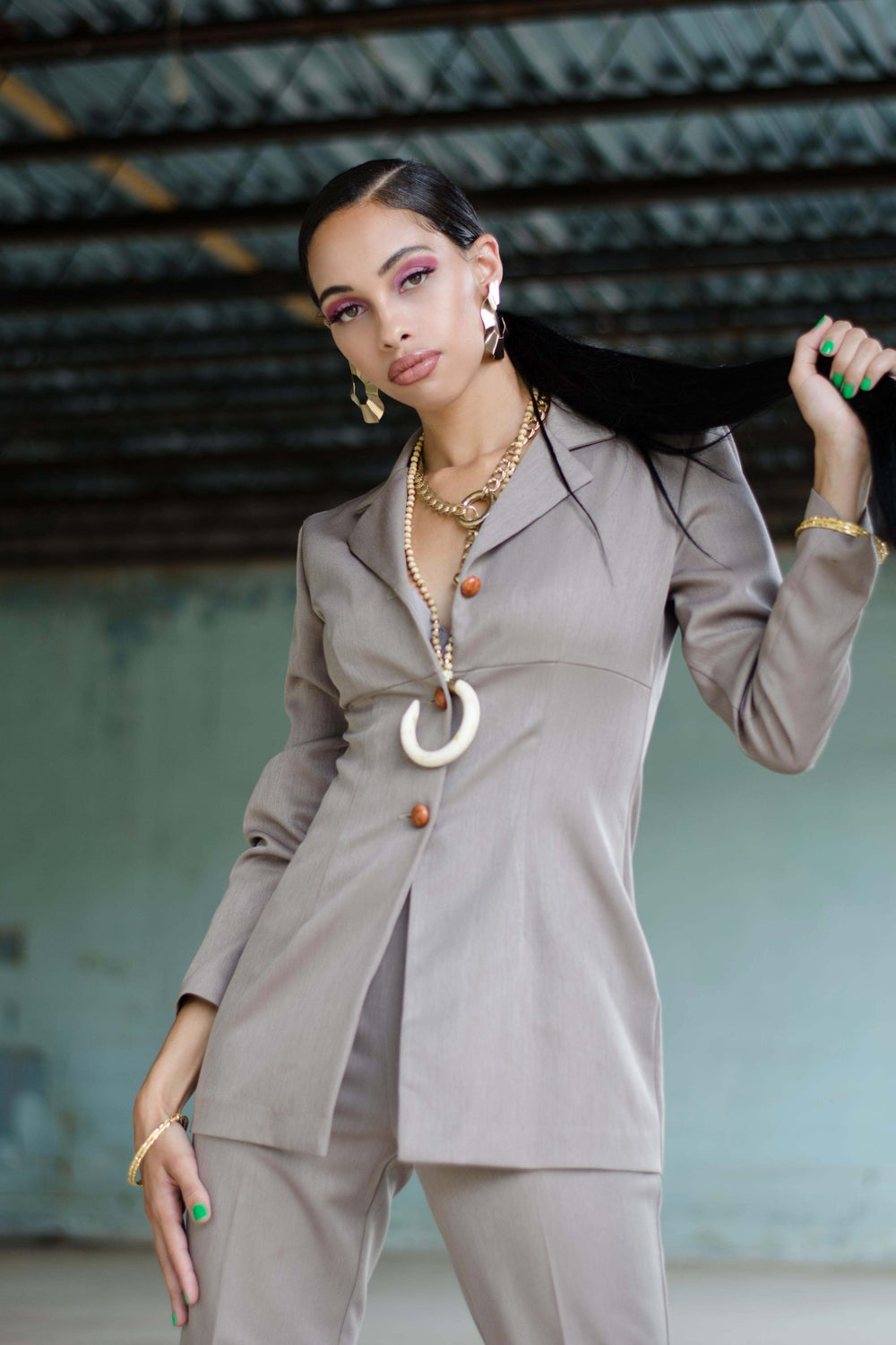 Image of Vintage Rayzeen Taupe Suit