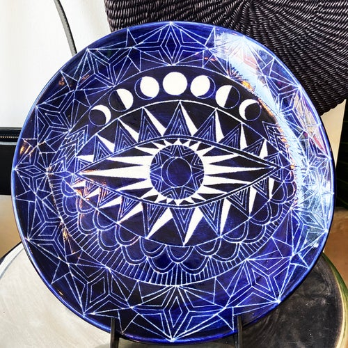 Image of Half Moon Spirit Eye Plate 11''