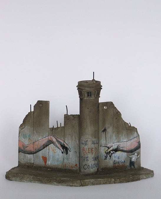 Image of Banksy wall section - Michelangelo
