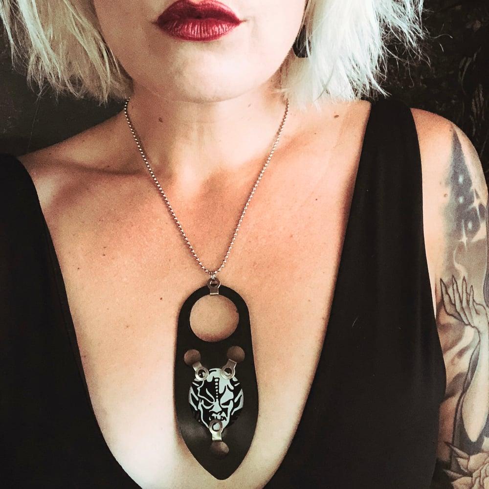 Image of Gasketcase Necklace with Stone Gargoyle