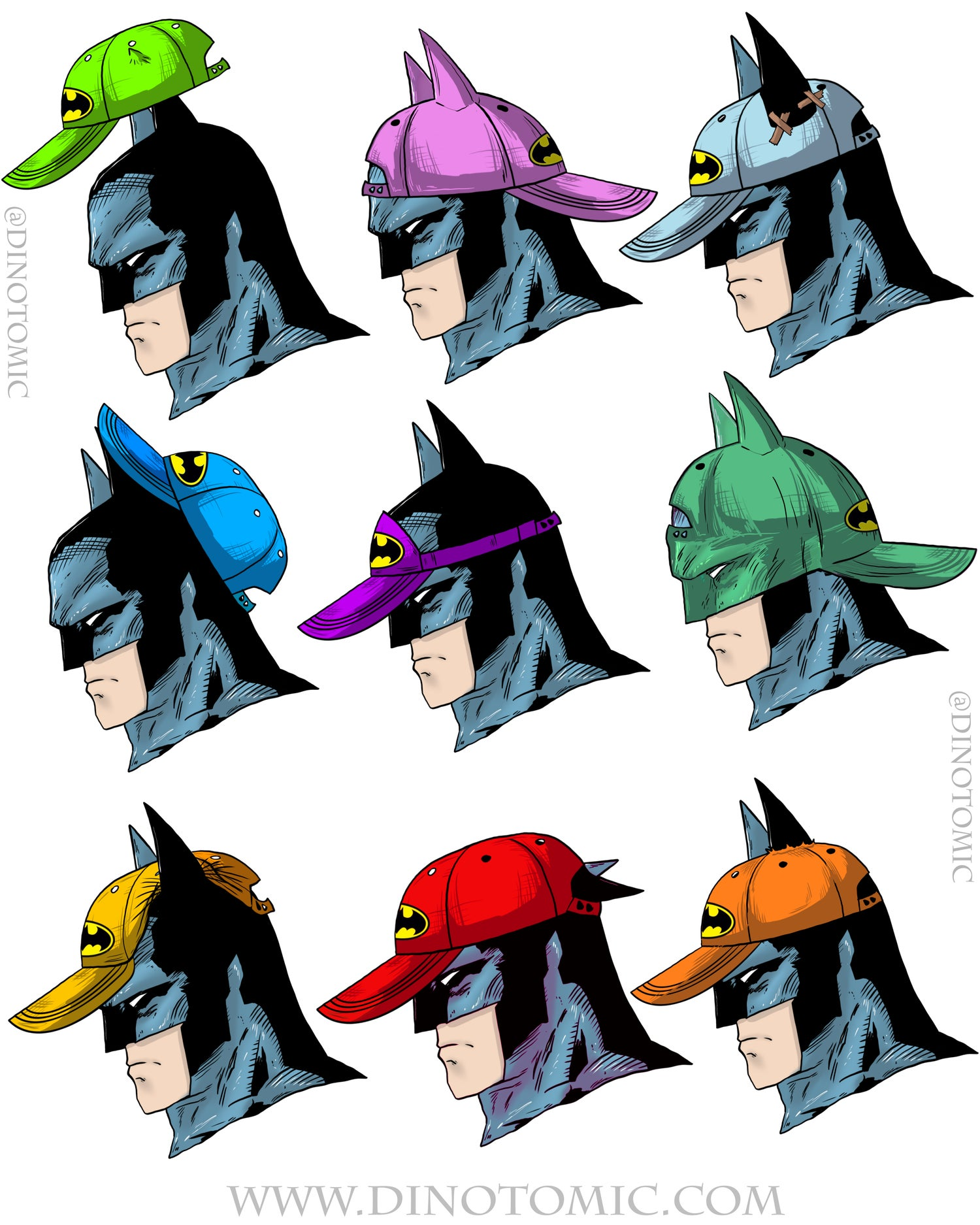 Image of #241 Batman with Caps