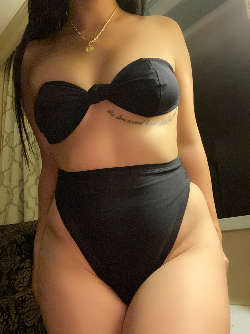 Image of MESH 2 PIECE SET / bottoms & strapless top