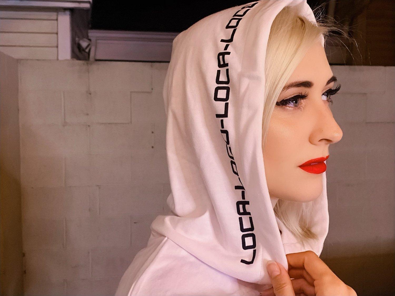 Image of LOCA Hooded Shrug In White