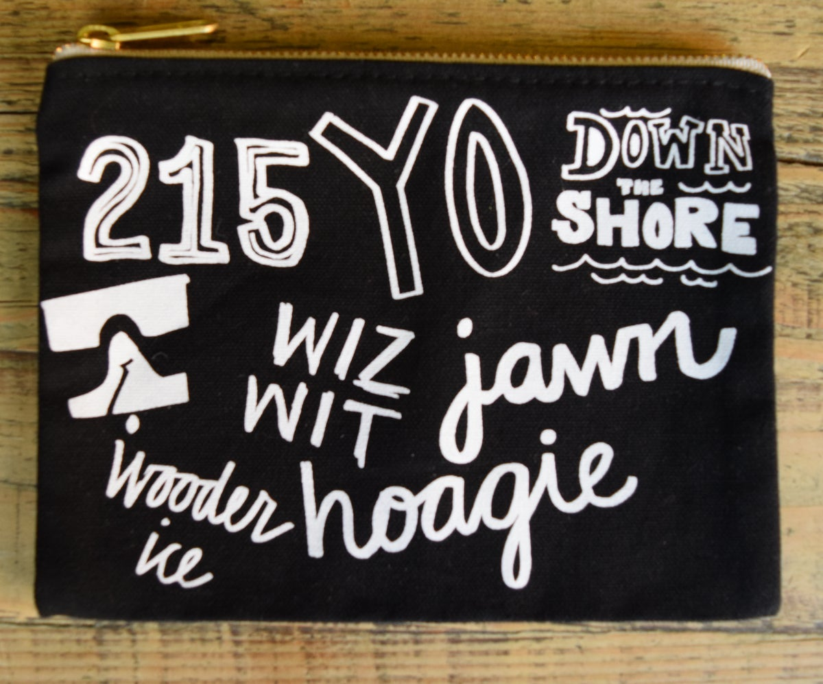 Philly Phrases Zip Pouch