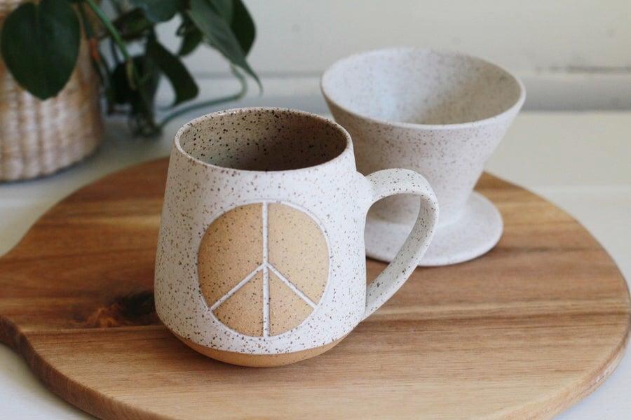 Image of Speckled Peace Mug