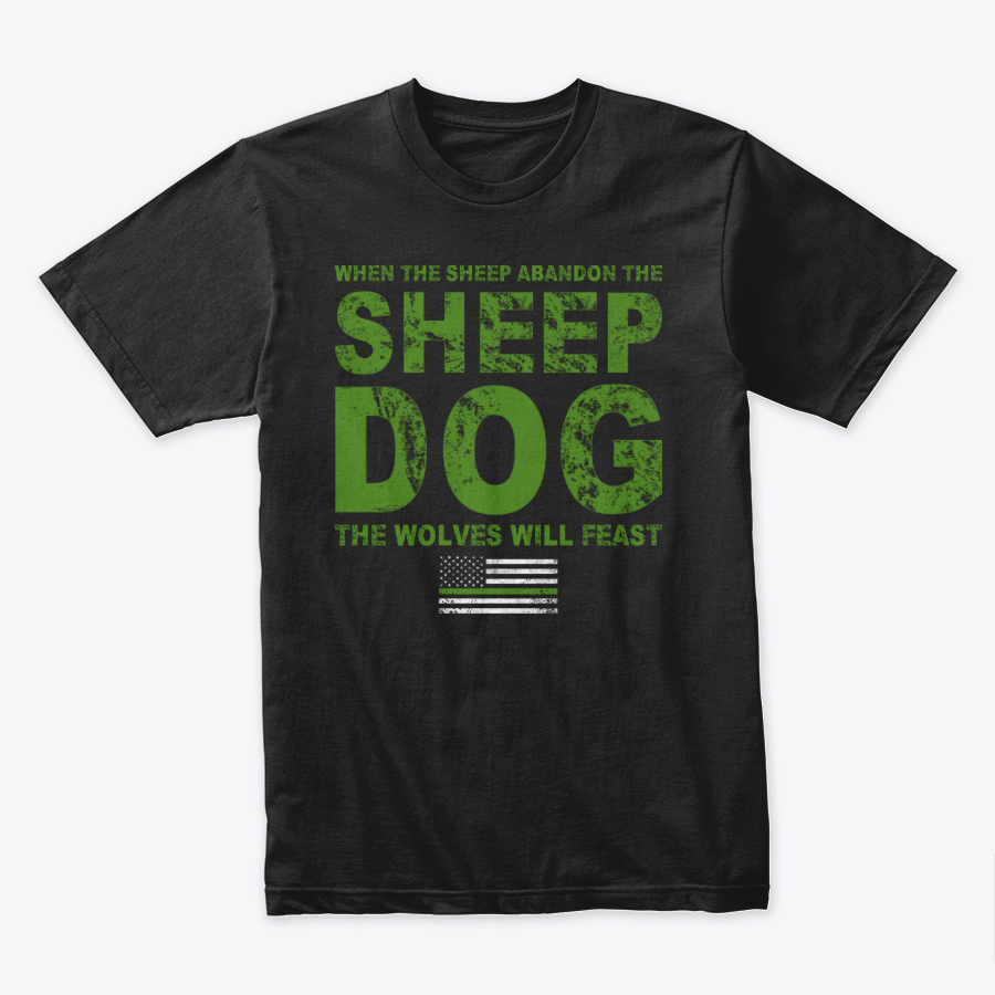 Image of WHEN THE SHEEP ABANDON THE SHEEP DOG (GREEN AND BLUE)