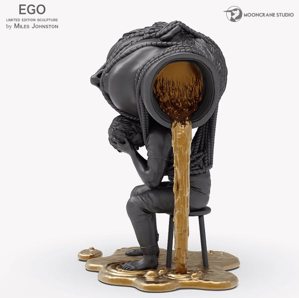 Image of EGO Sculpture Black and Gold by Miles Johnston