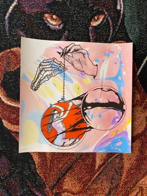 Image of 'Lady of The Orb' marbled print