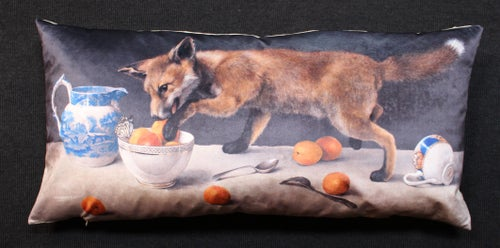 Image of Velvet Fox Cub Bolster
