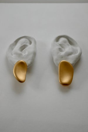 Image of Palette Earrings Long (Matt gold)