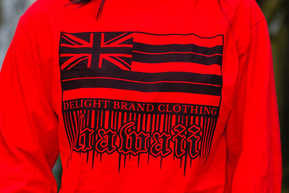 Hawaii Flag Drips Red Longsleeve