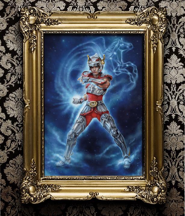 Image of Pegasus -Seiya  A2 (59,4x42) prints on 400gr. fine art canvas limited ed. of 30pcs