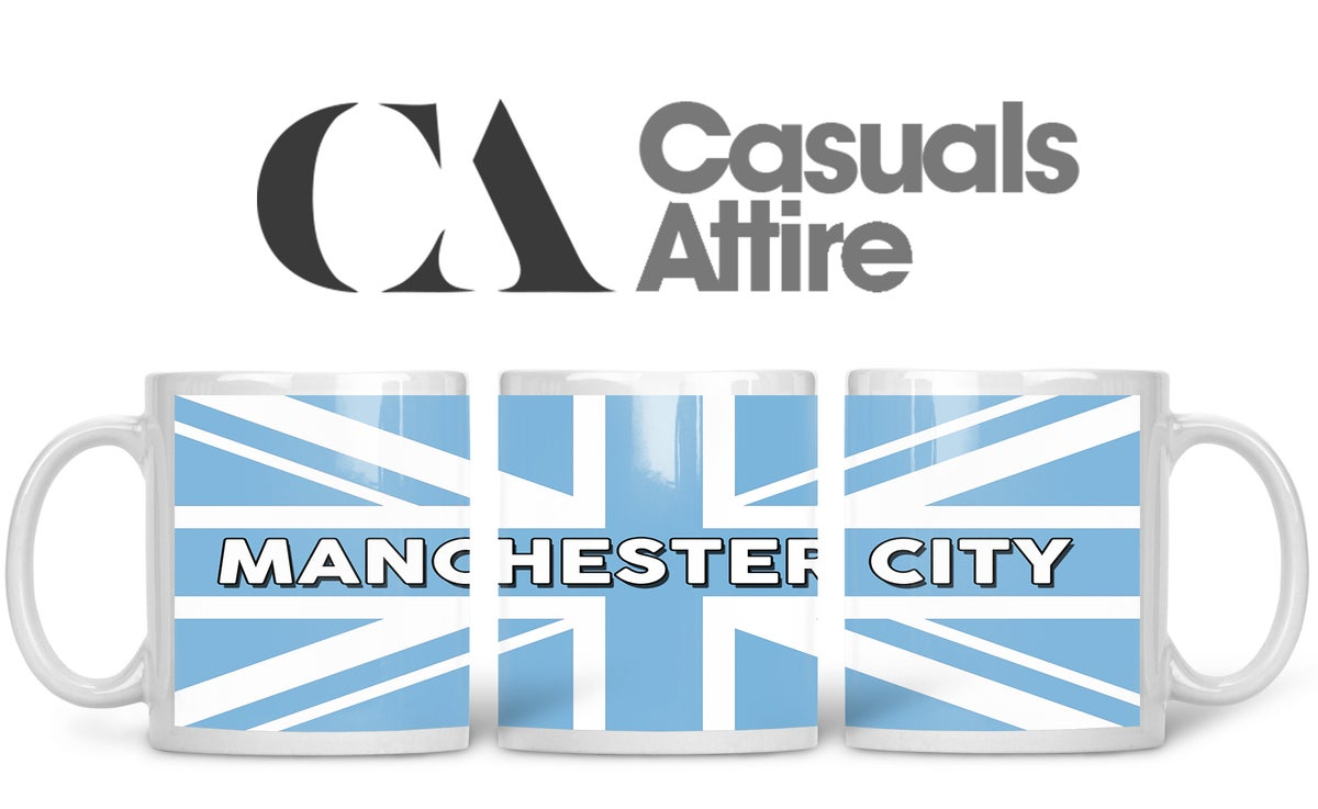 Man City, Football, Casuals, Ultras, Fully Wrapped Mugs. Unofficial. FREE UK POSTAGE