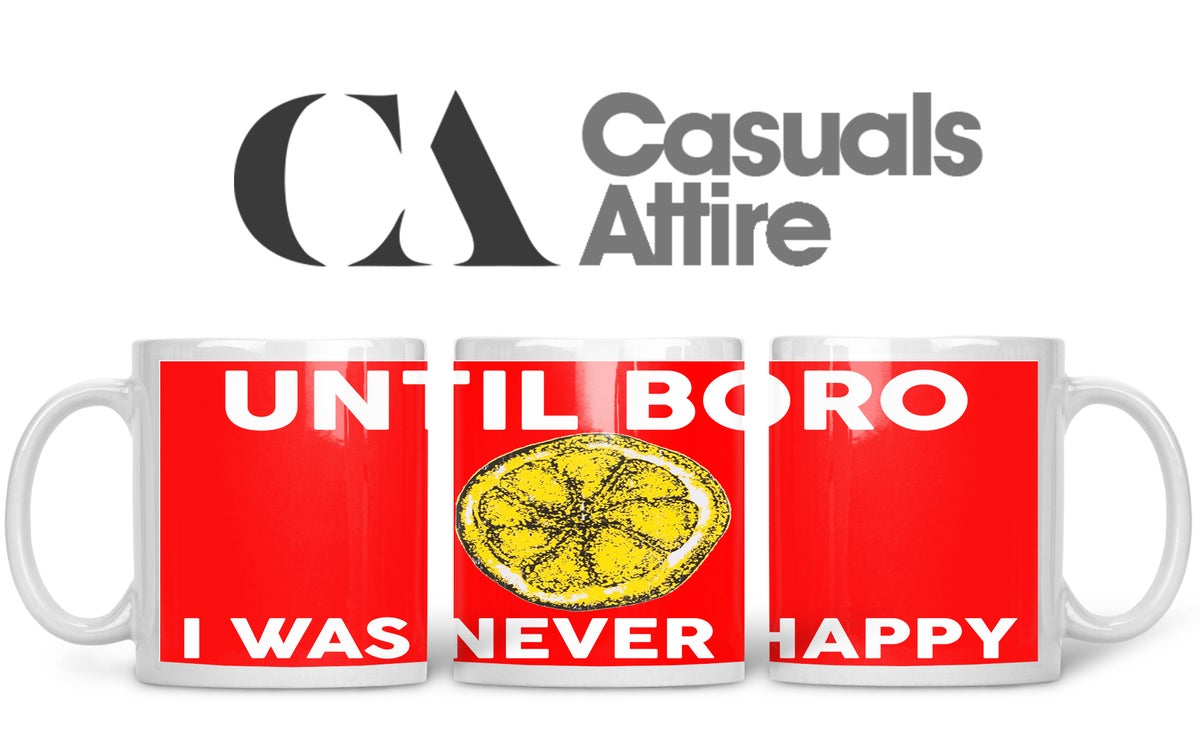 Middlesbrough, Football, Casuals, Ultras, Fully Wrapped Mugs. Unofficial. FREE UK POSTAGE