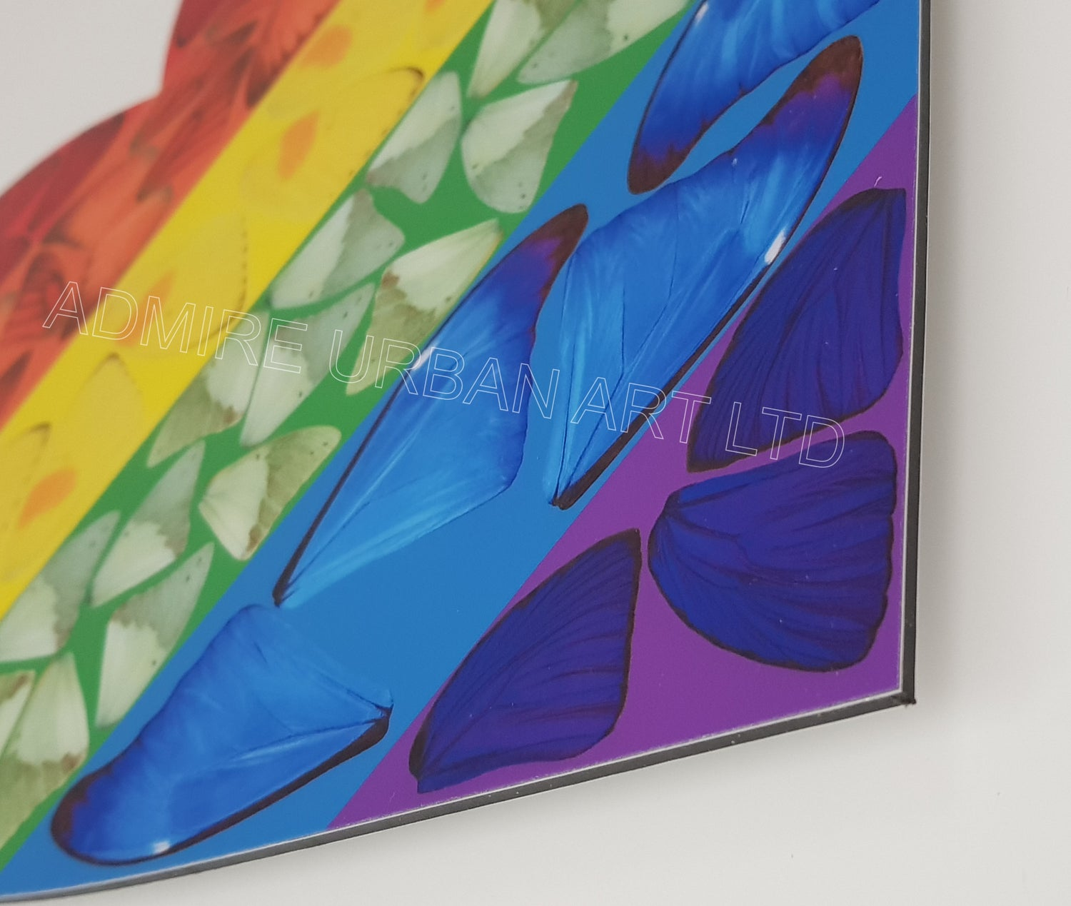 """Image of DAMIEN HIRST """"BUTTERFLY HEART"""" - H7-4 - AS NEW IN ORIGINAL BOX 35CM X 36.4CM"""