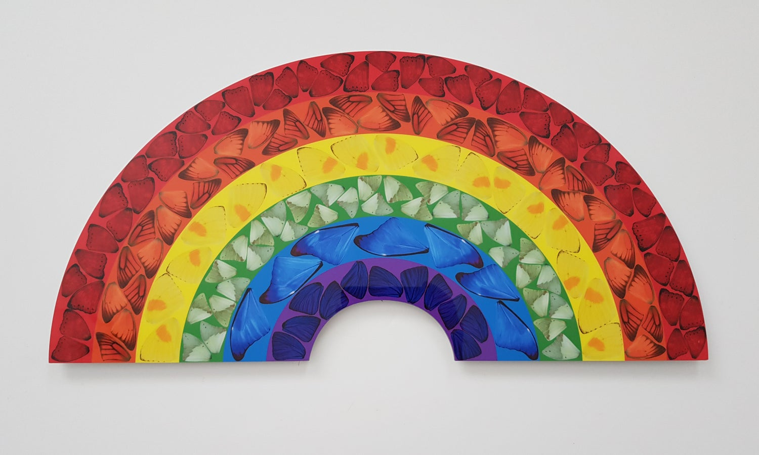 """Image of DAMIEN HIRST """"BUTTERFLY RAINBOW"""" - H7-2 - AS NEW IN ORIGINAL BOX 24.1CM X 50CM"""