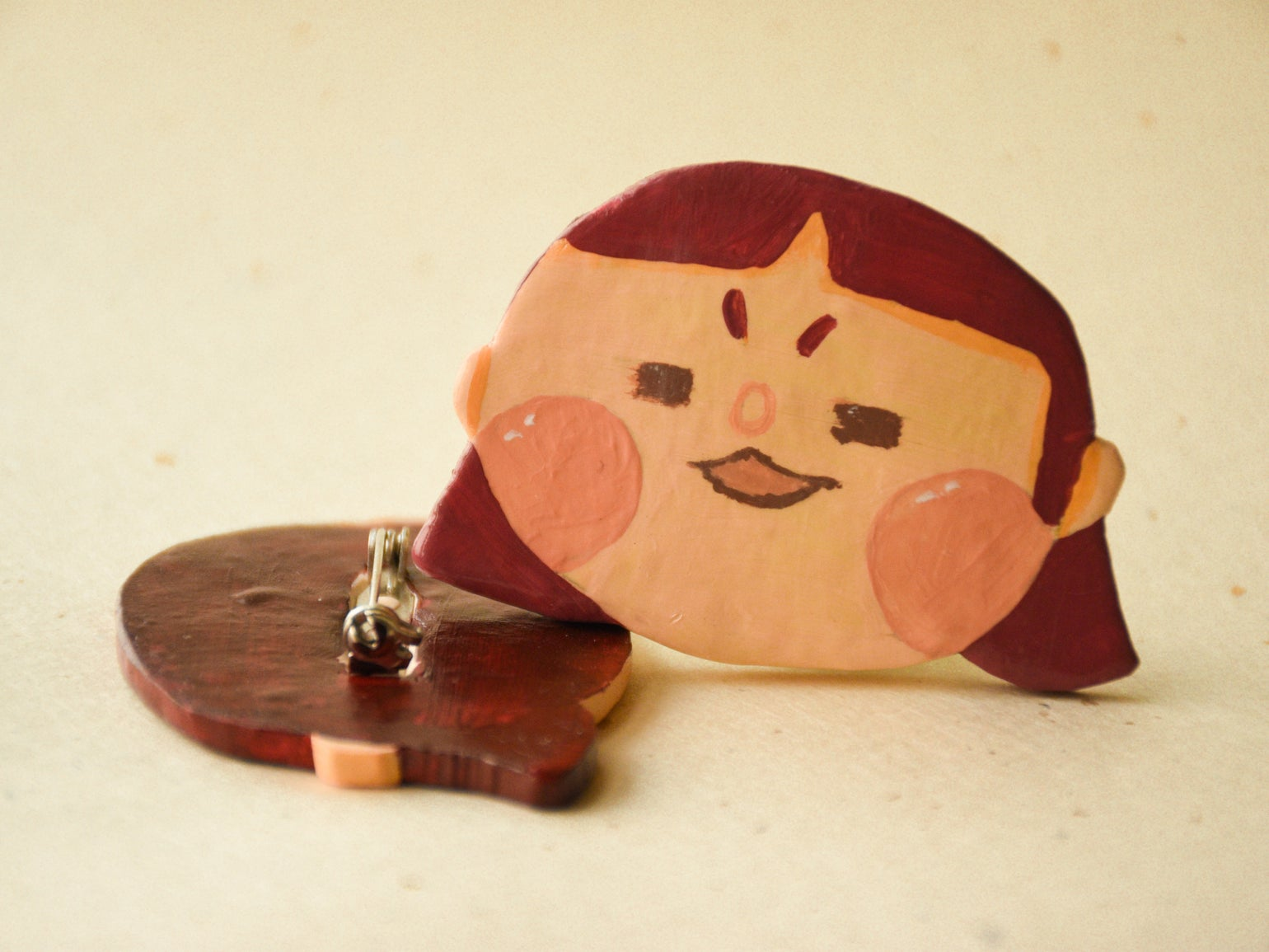 Image of Beauty Standards Brooch - Red