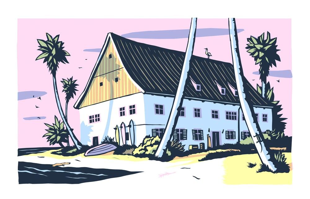 Image of »Badhaus« Druckgrafik