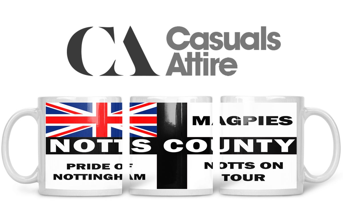 Notts County, Football, Casuals, Ultras, Fully Wrapped Mugs. Unofficial. FREE UK POSTAGE