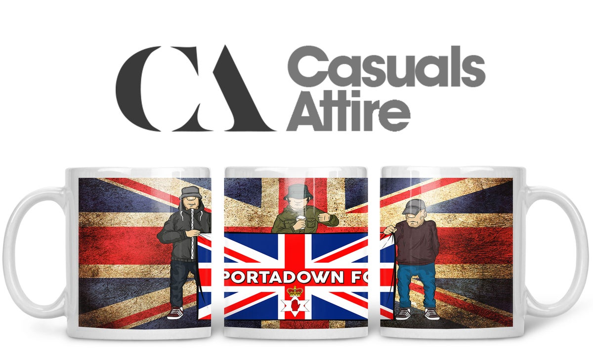 Portadown, Football, Casuals, Ultras, Fully Wrapped Mugs. Unofficial. FREE UK POSTAGE