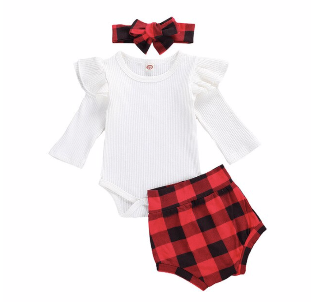 Plaid High Waist Bloomers Outfit