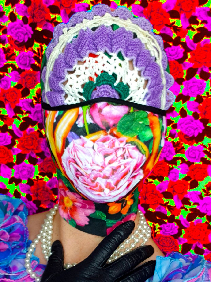 Image of MISS MEATFACE 'ROSE' FACE MASK