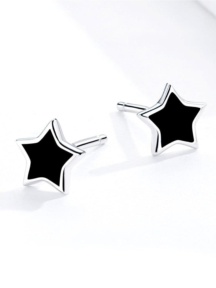 Blackstar Earrings (925 Sterling Silver)