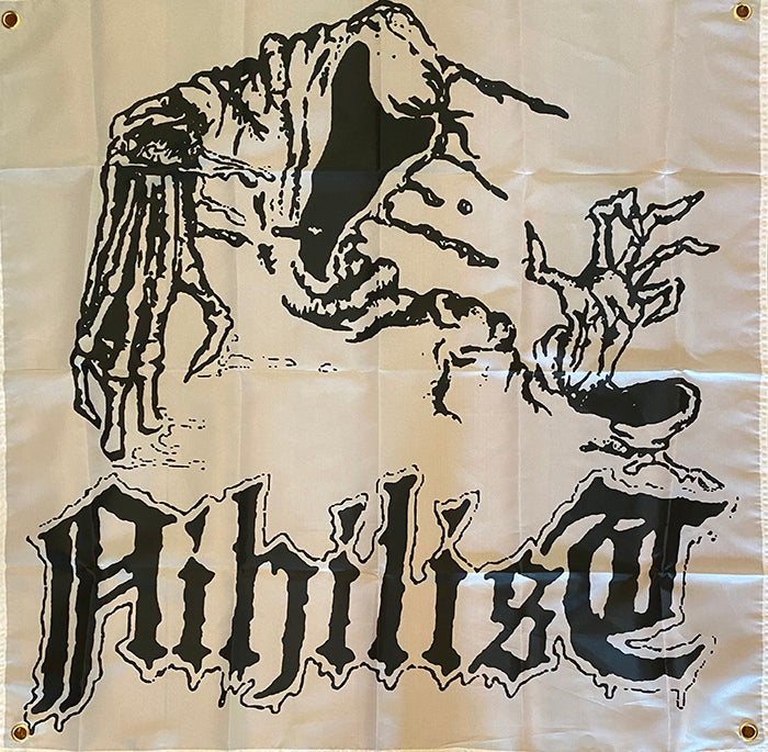 """Image of Nihilist """" Ghost """" Flag / Banner / Tapestry"""