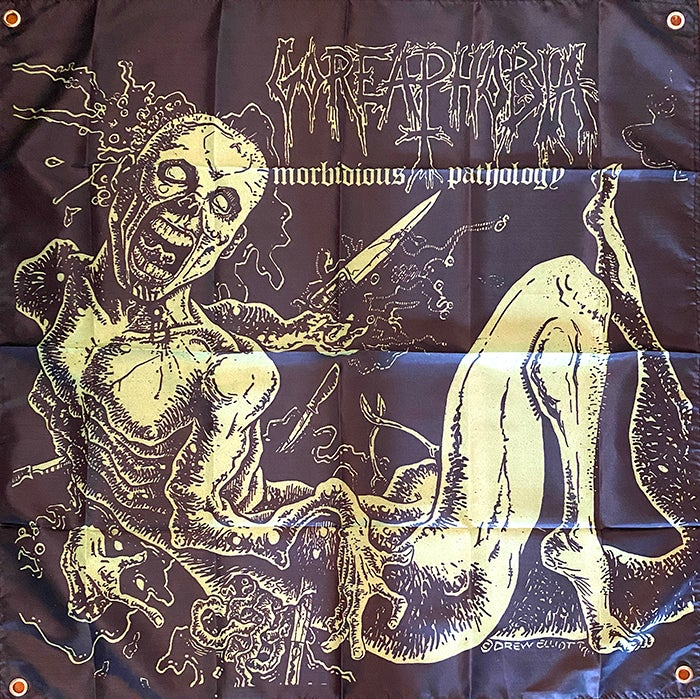 "Image of Goreaphobia "" Morbidious Pathology ""  Flag / Banner / Tapestry"