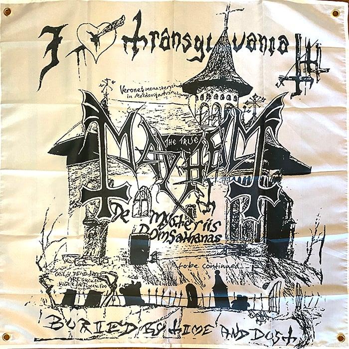 """Image of Mayhem  """" I Love Translyvania """"  Flag / Banner / Tapestry /"""
