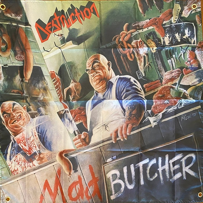 "Image of Destruction  "" Mad Butcher ""  Flag / Banner / Tapestry"