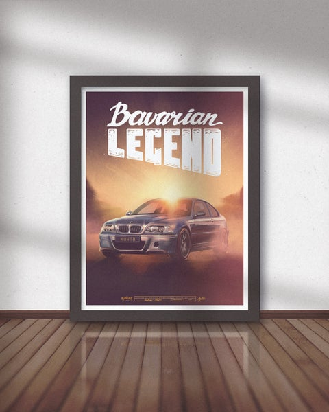 Image of Bavarian Legend CSL Limited Edition Poster (Pre-Order)