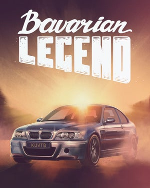 Image of Bavarian Legend CSL Limited Edition Poster