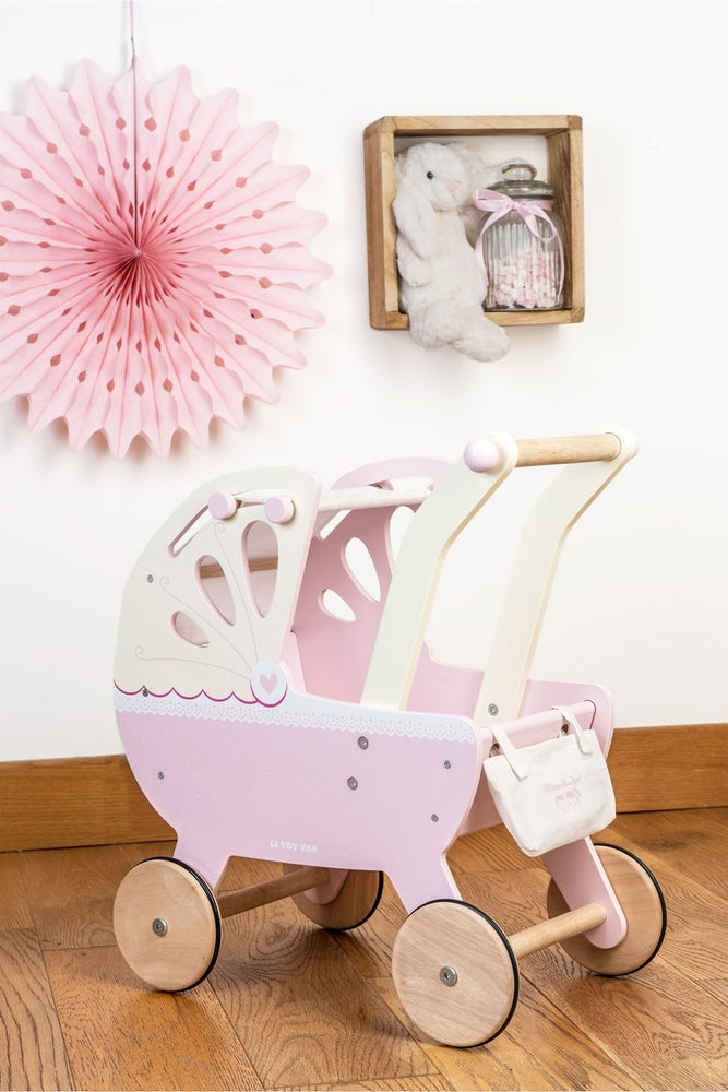 Image of Sweet Dreams Doll Pram - PINK - DELIVERY MID NOVEMBER