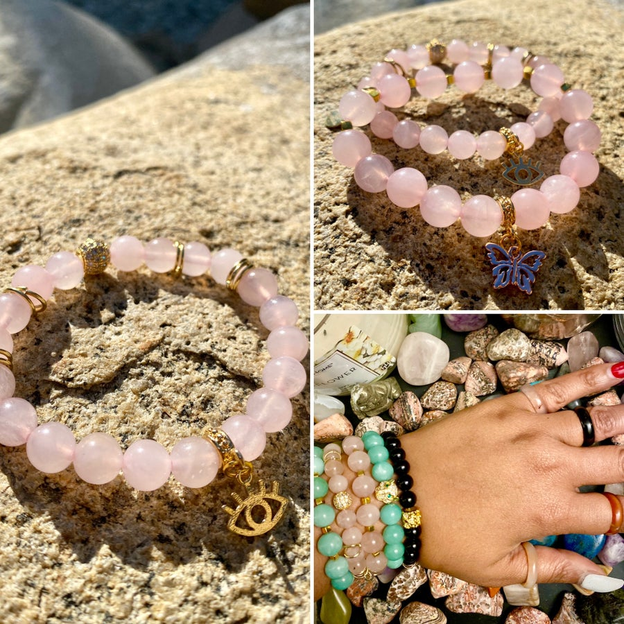 Image of Rose Quartz Bracelet | Love Attract | 18k gold | Heart Chakra