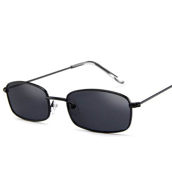 Image of Thin frame black sunglasses