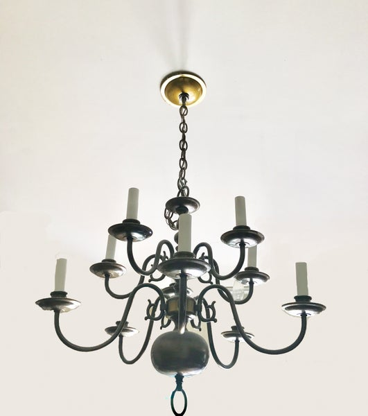 Image of Antique Brass 12 - Light Candle Style Classic / Traditional Chandelier