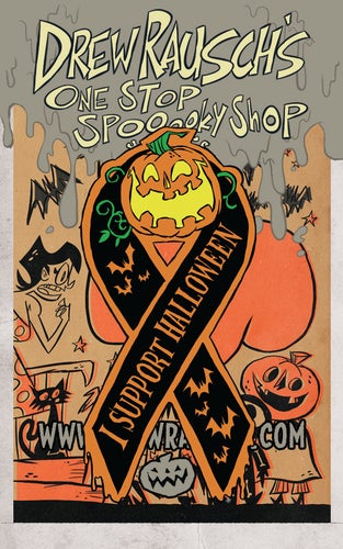 Image of I Support Halloween enamel pin