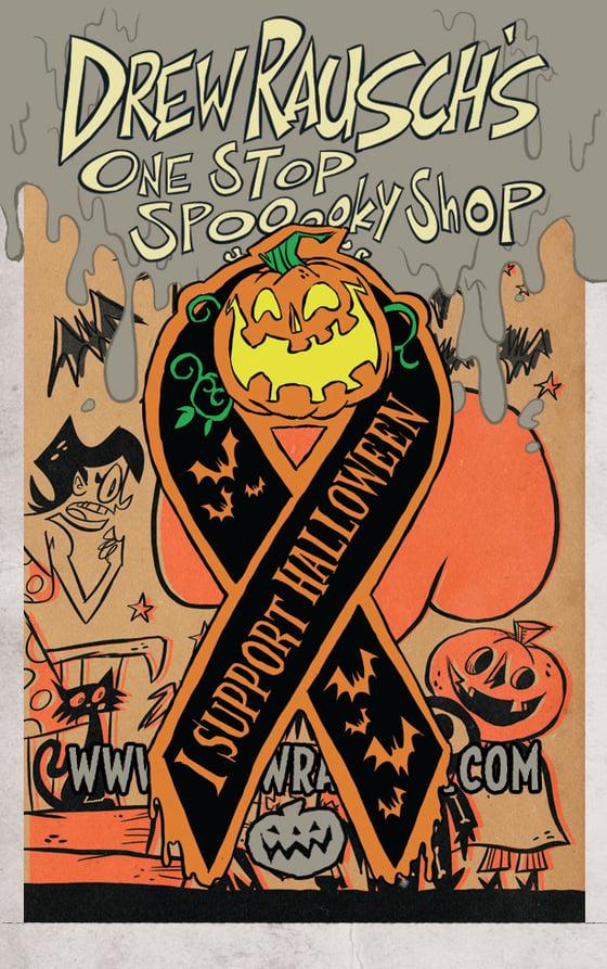 Image of I Support Halloween enamel pin
