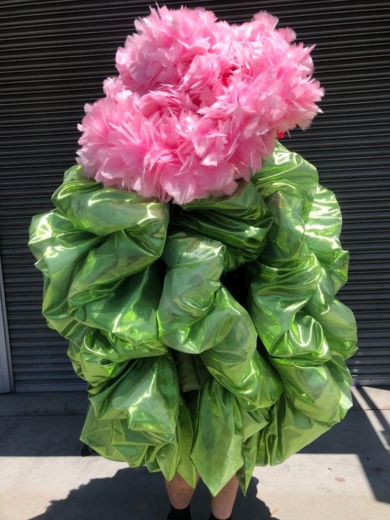 Image of Jumbo lime green boa bag