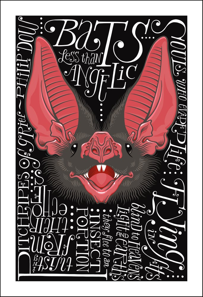 Image of Bat Poem Print