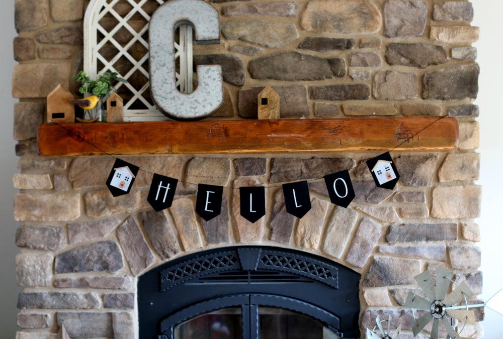 Image of HELLO Farmhouse Banner, Reusable Felt, 2 styles