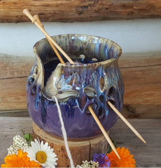Image of Yarn Bowl for Your Wool - Huckleberry Wildflower Child
