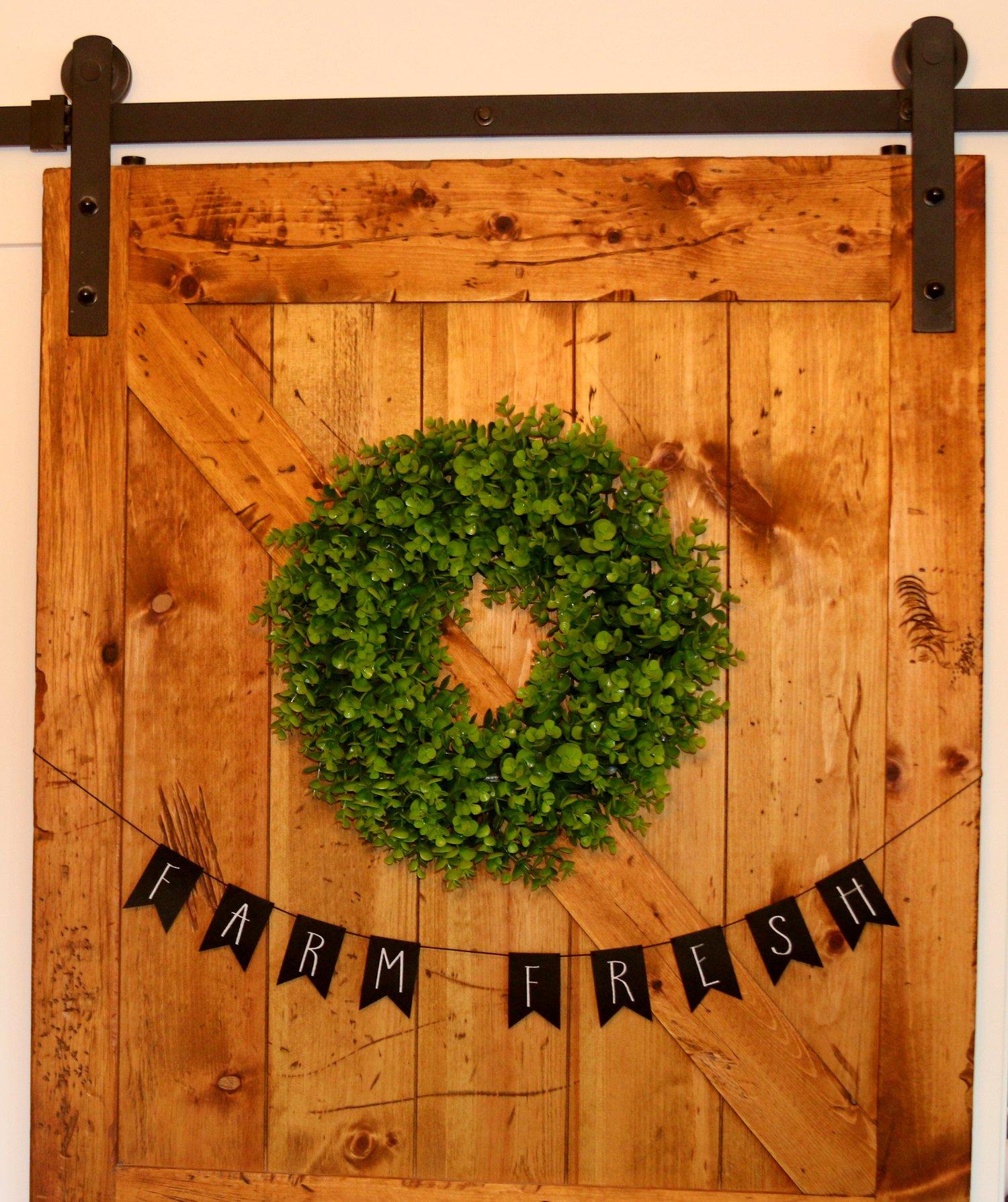 Image of FARM FRESH mini Banner, Farmhouse, Rustic, Reusable Felt