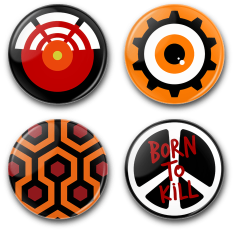 Image of Kubrick - Button Badges