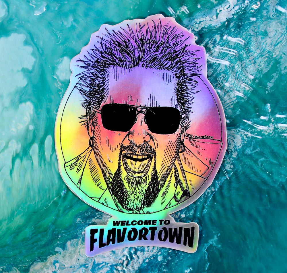 Image of Flavortown Holographic Sticker