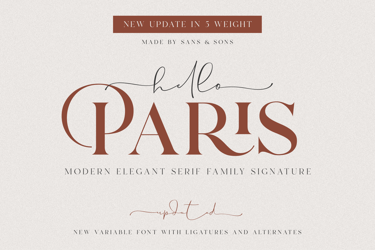 Image of Hello Paris | Variable Paired Duo